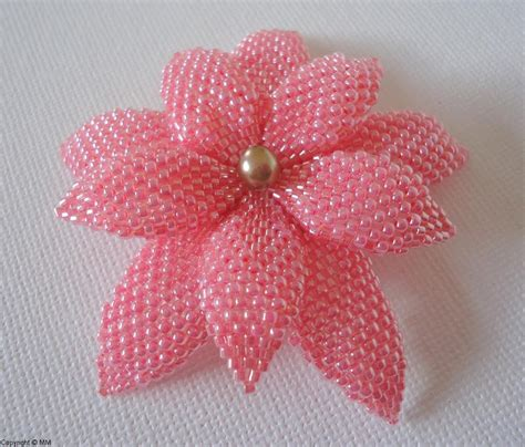 beaded flower pattern beaded flowers free patterns images frompo 1