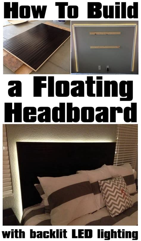 what to do with lights how to make a floating headboard with led lighting