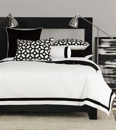 white and black bed set niche luxury bedding by eastern accents palmer collection
