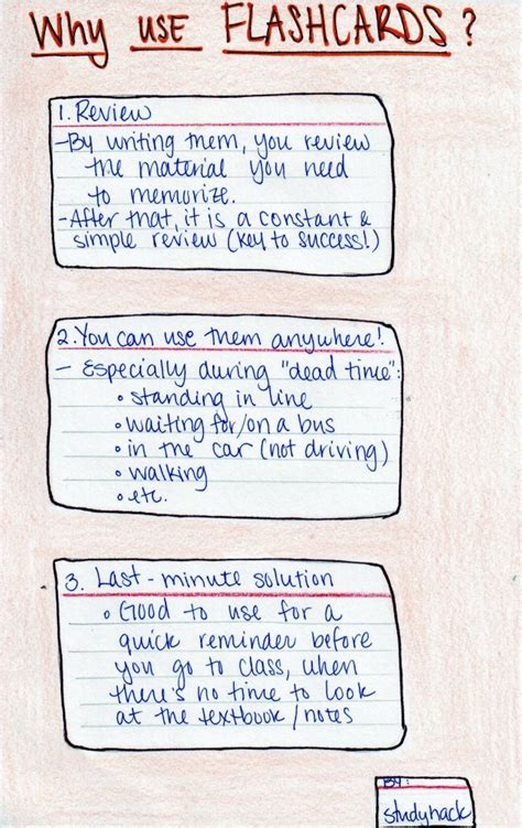 how to make effective flash cards study with flashcards study hack