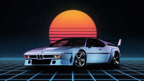 80s Car Wallpaper by Wallpaper Bmw M1 Retro Style Synthwave German Cars