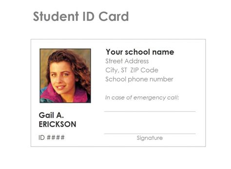 id card free student identification card template free