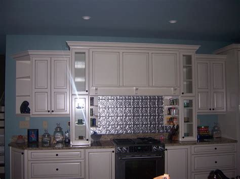 tin backsplash kitchen tin tile backsplash for kitchen with kitchen colors