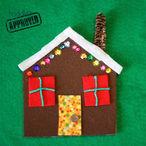 gingerbread house craft for toddler approved crafts easy felt gingerbread