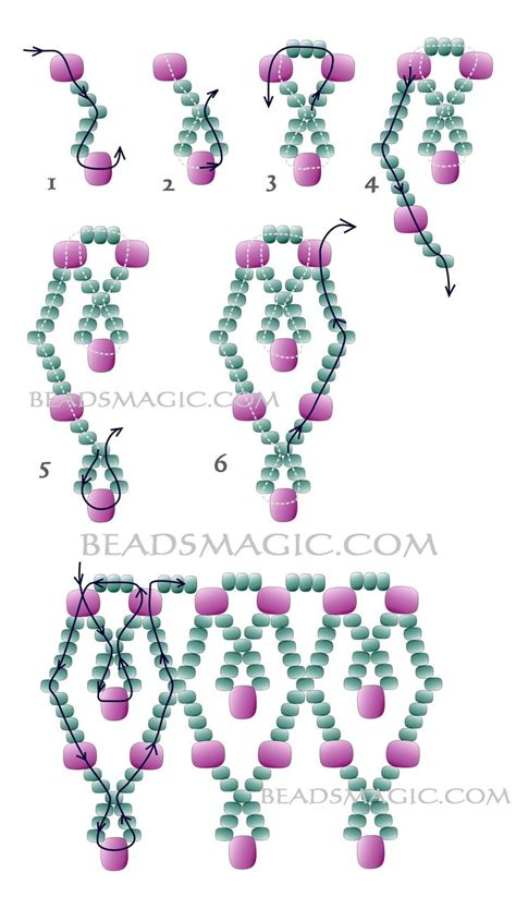 seed bead necklace patterns for beginners 25 best ideas about beading patterns free on