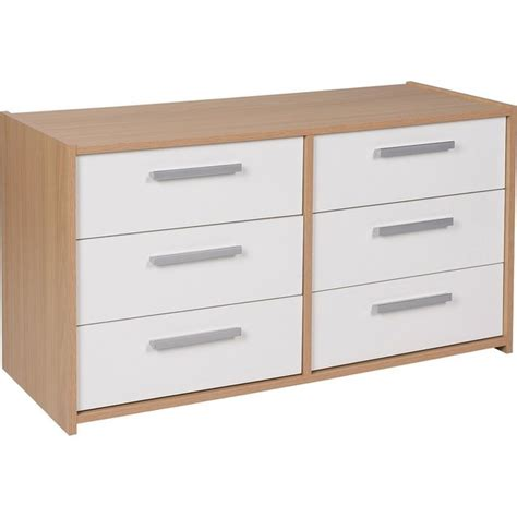 sywell bedroom furniture buy home new sywell 3 3 drawer chest oak effect white