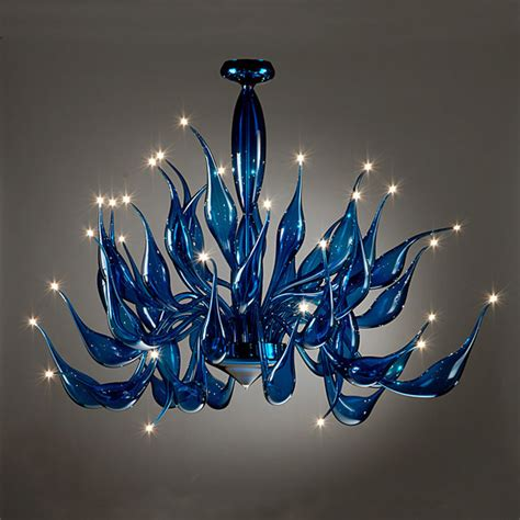 modern glass chandeliers murano glass cobalt blue tentacoli chandleier modern chandeliers adelaide by murano