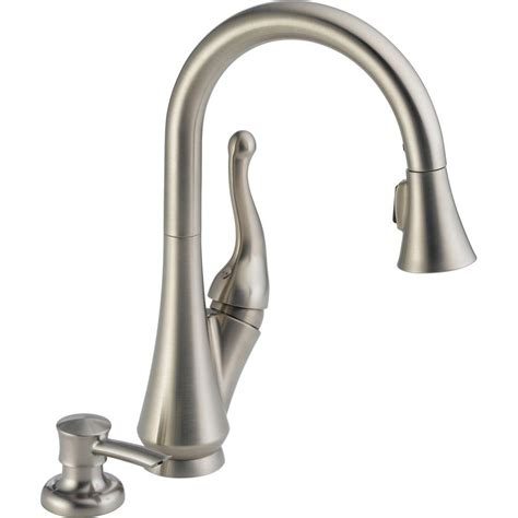delta kitchen faucet models delta talbott single handle pull sprayer kitchen faucet with soap dispenser in stainless