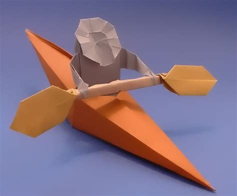 kayak origami origami boats gilad s origami page
