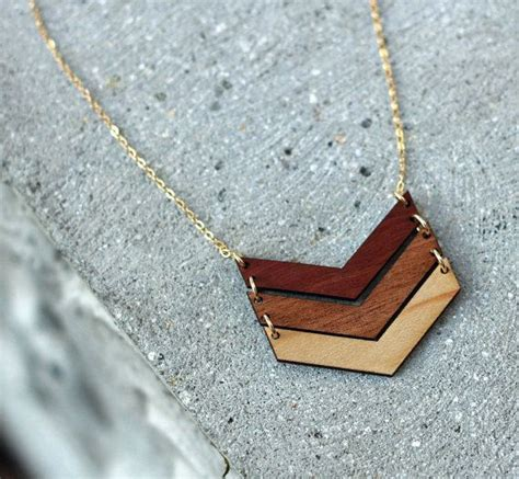 wooden necklace best 25 wood necklace ideas on