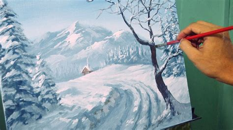 acrylic painting winter acrylic landscape painting lesson winter landscape by jm
