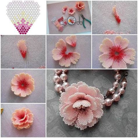 how to make beaded flowers 1000 ideas about beaded flowers on