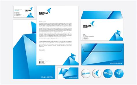 origami company 20 beautiful business card design brand identity