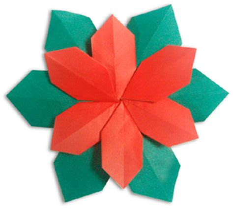 poinsettia origami origami poinsettia