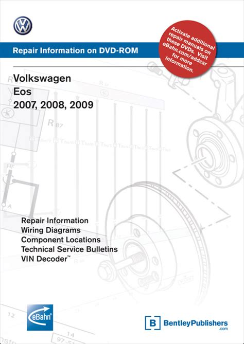 service repair manual free download 2010 volkswagen eos transmission control front cover volkswagen eos 2007 2008 2009 repair manual on dvd rom bentley publishers