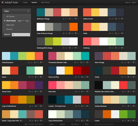 scheme design web design application color schemes shahid hashmi web