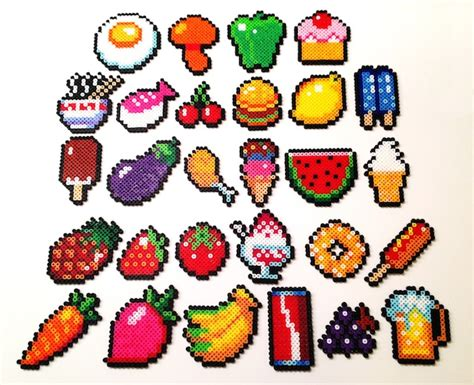 food perler perler on perler hama and kawaii