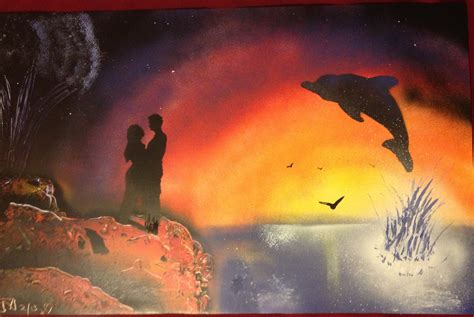 spray painting for valentines day paintings marczirin spray paint