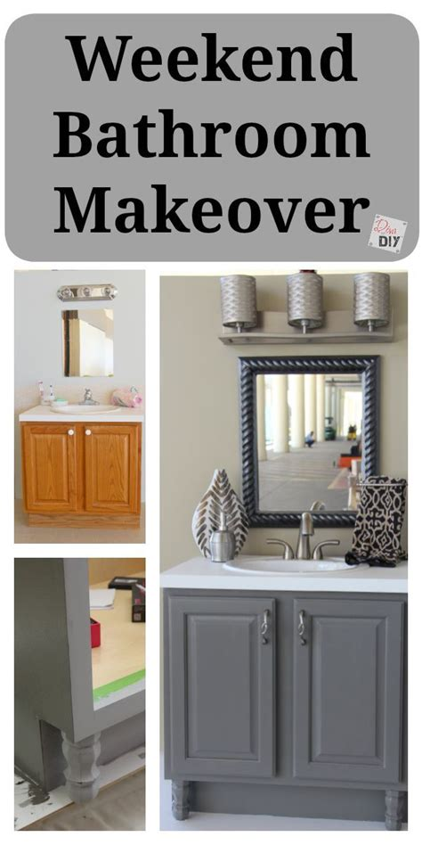 Inexpensive Bathroom Makeover Ideas by 4 Diy Bathroom Ideas That Are And Easy L Grey