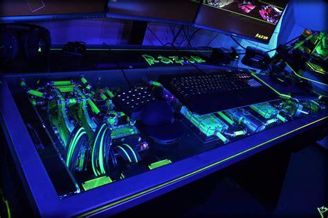 desk pc build raz3r d3sk gaming desk pc build by l3p