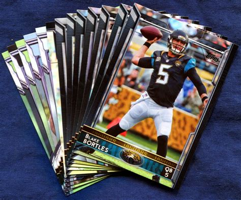 how to make a football card 2015 topps jacksonville jaguars nfl football card team set