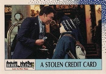 how to make money with stolen credit cards 1992 topps home alone 2 non sport gallery the trading