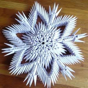 3d origami snowflake 3d origami sneeuwvlok nr 2