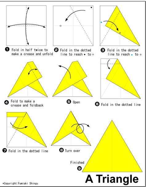 paper triangles origami origami triangle
