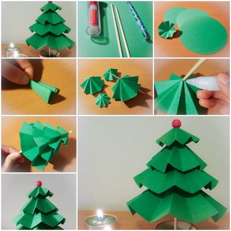step by step crafts for how to make simple paper trees step by step diy