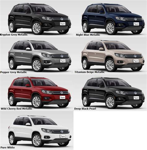 Volkswagen Colors by Vw Tiguan 2016 The Engine Options Car Interior Design