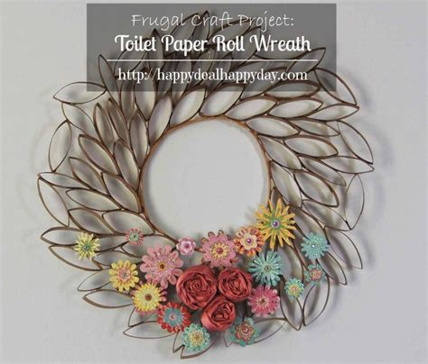 toilet paper roll wreath craft 9 ideas for fall decor cooking with ruthie