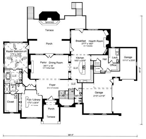 tudor mansion floor plans house plan 50187 at familyhomeplans