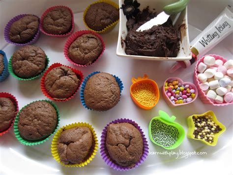 cupcakes decoration learn with play at home decorating cupcakes with added