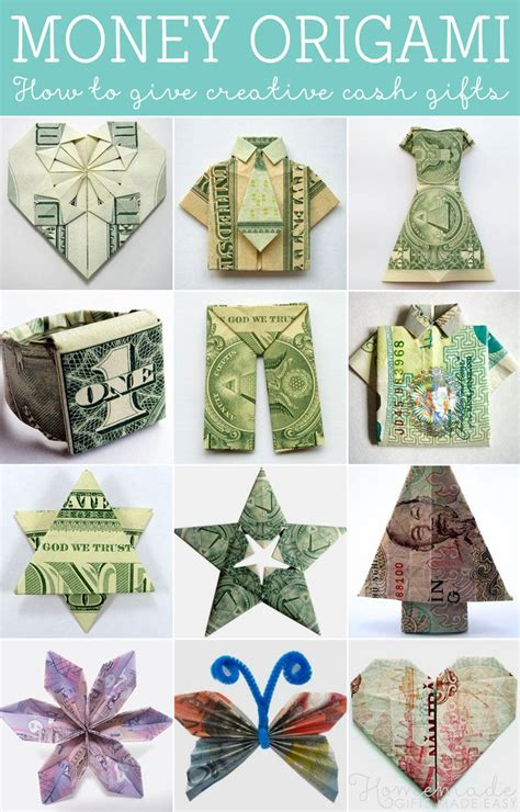 money origami how to money origami tutorials how to give creative gifts