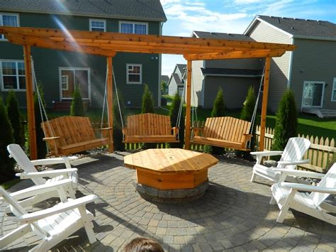pergola with pit apple valley pit with pergola swings design