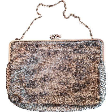beaded evening bag vintage beaded evening bag from rozsplace on ruby