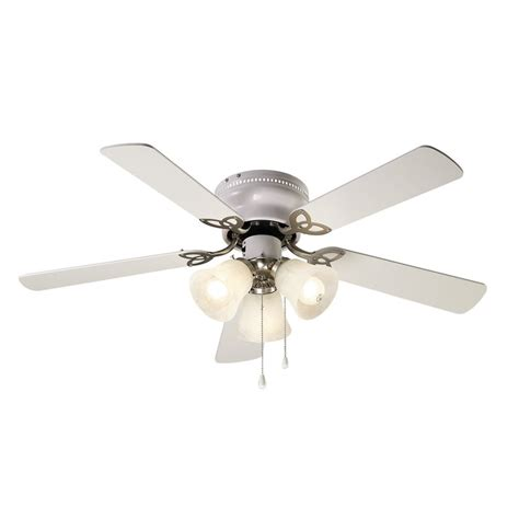 nickel ceiling fan with light shop canarm 42 in brushed nickel indoor flush mount