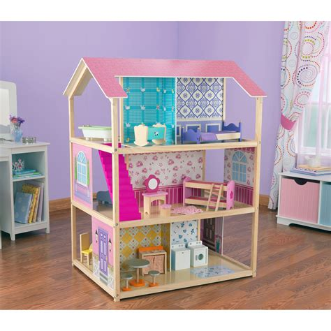 kid craft doll house kidkraft deluxe play around dollhouse 65183 at hayneedle