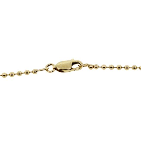 gold bead chain 14k yellow gold 0 32ctw bead chain necklace