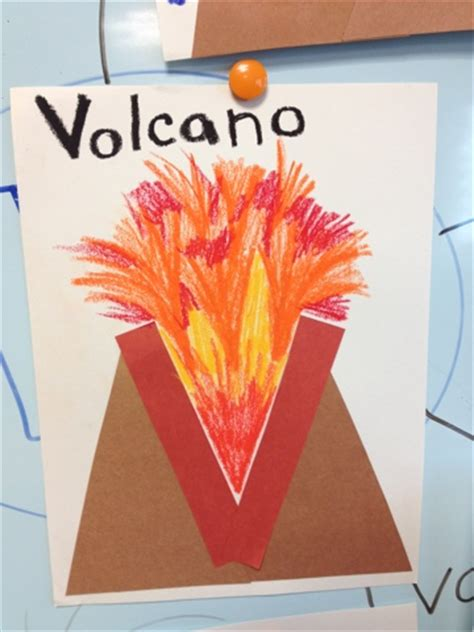 volcano crafts for alphabet letter craft v is for volcano color me sweet