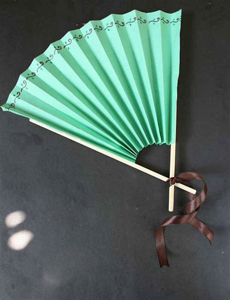 paper craft fan from popsicles to craft projects handmade