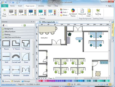 layout program free office layout software create office layout easily from