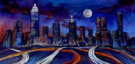 paint nite atlanta atlanta skyline at originals painting on canvas by