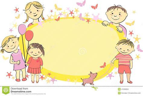cadre de vecteur pour le texte avec des enfants illustration de vecteur image 41309904