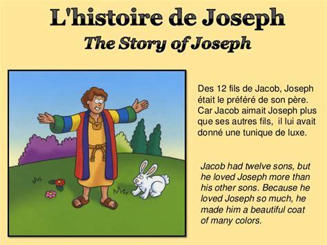 histoire de l l histoire de joseph the story of joseph