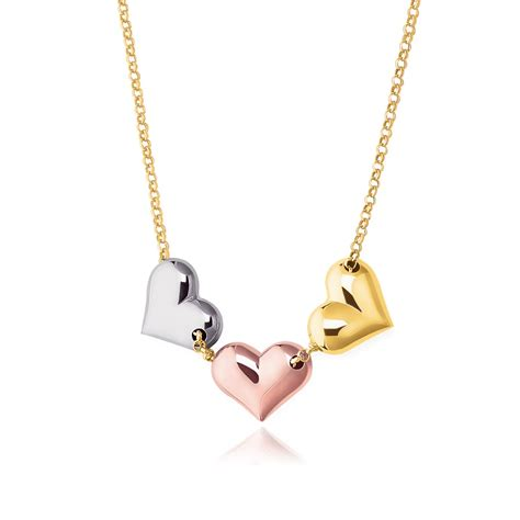 14k gold for jewelry necklace in 14k tri color gold richard
