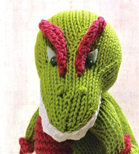 knit a dinosaur just crafty enough knitted dinosaurs book review