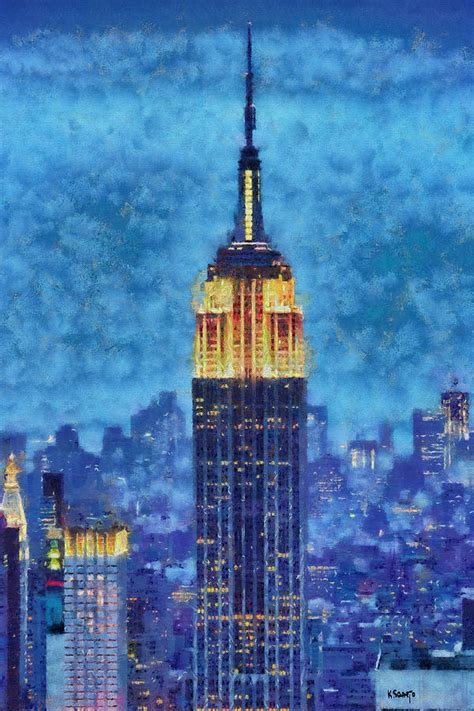 paint nite in nyc empire state building by painting by saarto