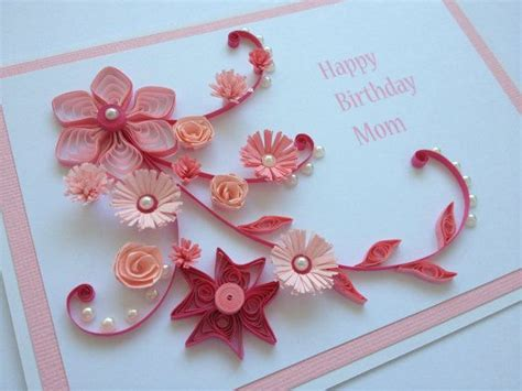 how to make paper quilling cards handmade quilled paper birthday card flowers by