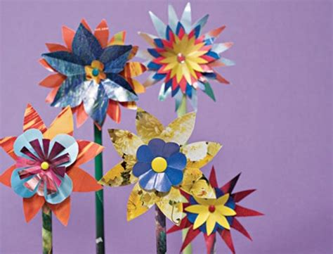 Crafts For How To Make Glossy Paper Flowers